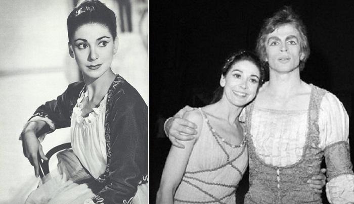 Прима-балерина Марго Фонтейн и танцор Рудольф Нуриев.