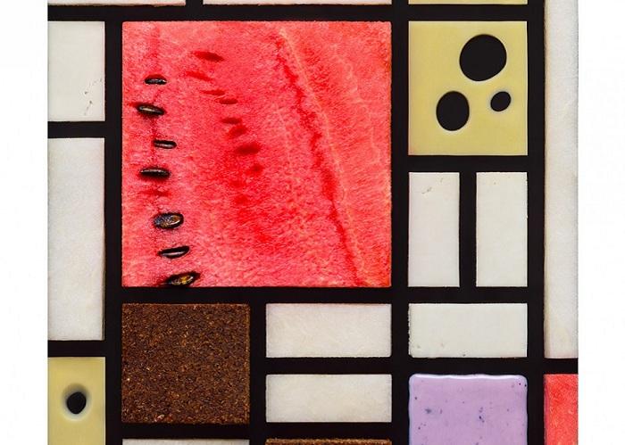 Продуктовая репродукция картины Пита Мондриана.