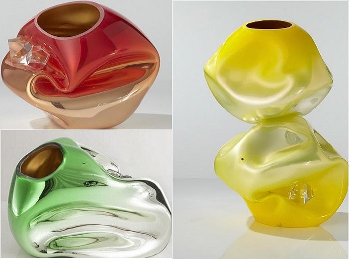 Абстрактные скульптуры стеклодува Jeff Zimmermann.