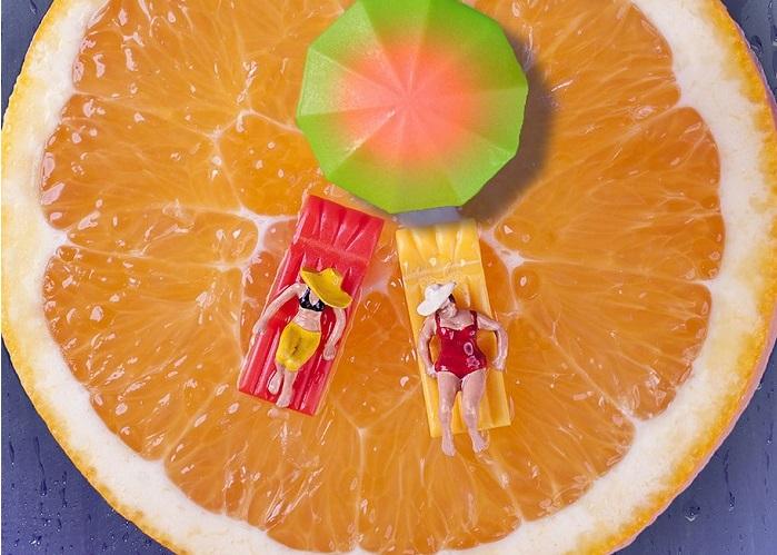 Серия работ от бразильского художника «Minimize-Food».