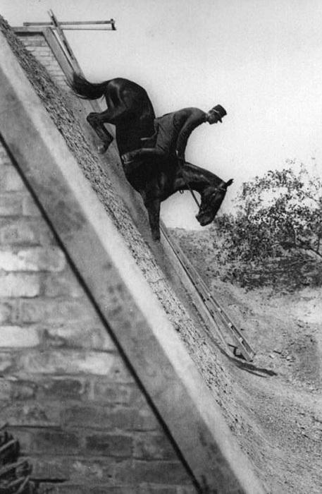 Обучение прыжкам с холма.
