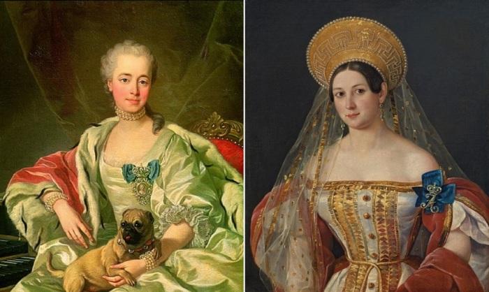 Фрейлины российского королевского двора.