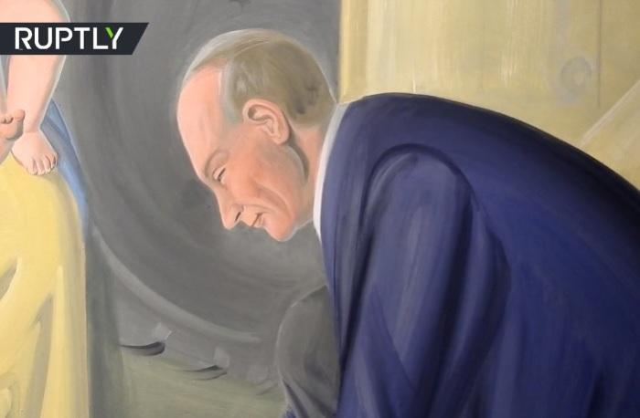 В чертах этого образа можно узнать российского лидера. | Фото: russian.rt.com.