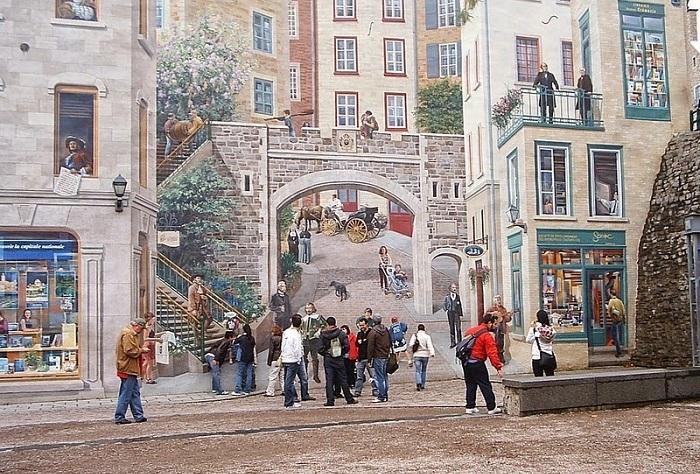 La Fresque des Quebecois - туристическая достопримечательность Квебека.
