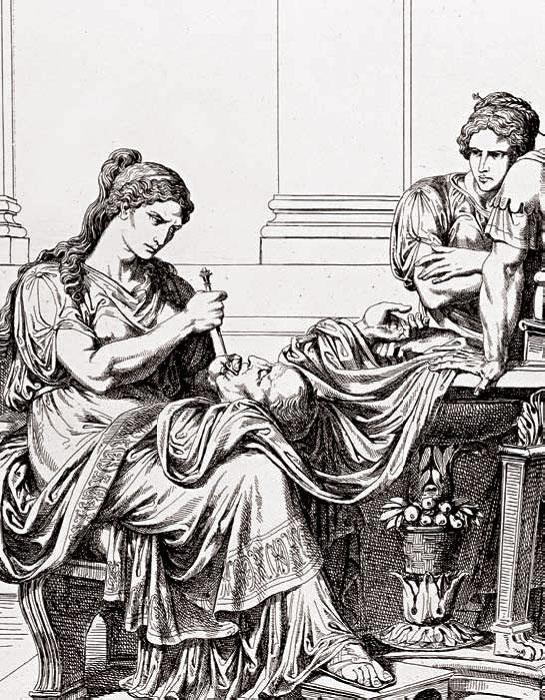 Фульвия злорадствует над головой Цицерона. | Фото: ogrik.ru.