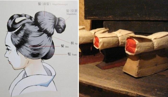Такамакура - деревянная подставка для шеи вместо подушки.