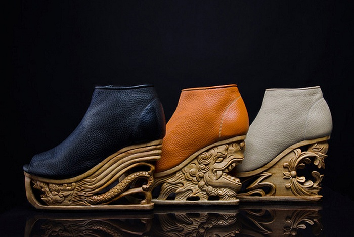 «Драконья» обувь на платформе.