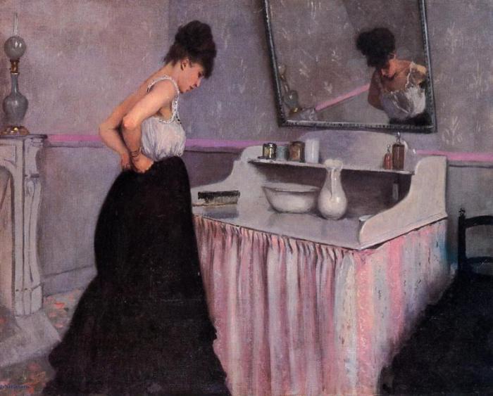Женщина за туалетным столиком. Г. Кайботт, 1873 год. | Фото: menstois.ru.