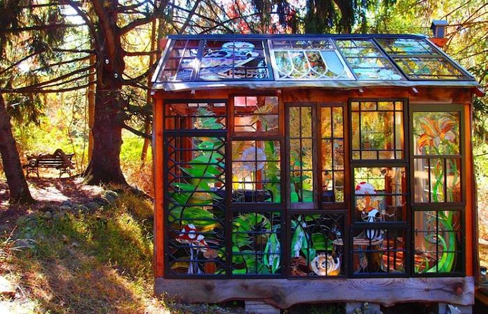 Уникальный художественный проект «Glass Cabin» американской художницы.| Фото: mymodernmet.com.