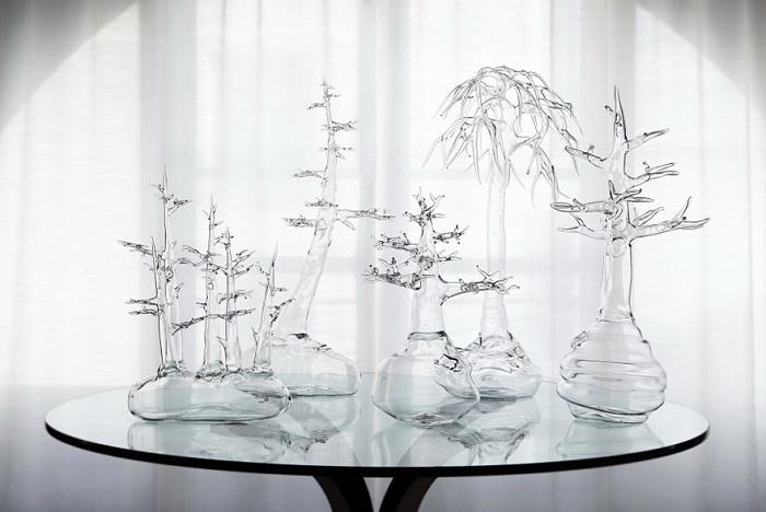 Изящные скульптуры из стекла.