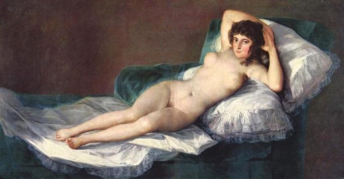 Маха обнаженная. Франсиско Гойя, 1795-1800 гг. | Фото: mtdata.ru.