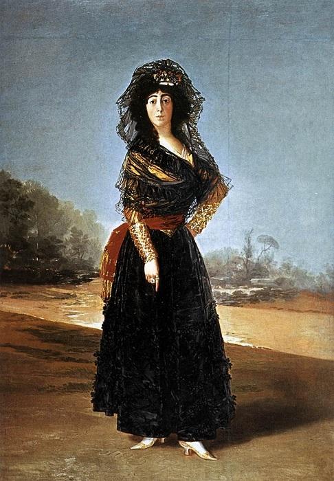 Герцогиня Альба в черном, 1797 год. | Фото: free-photos.biz.