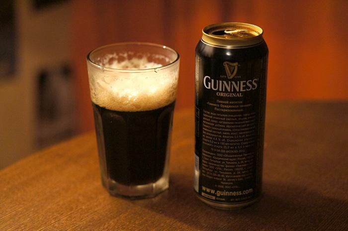Темное пиво Guinness. | Фото: img-fotki.yandex.ru.