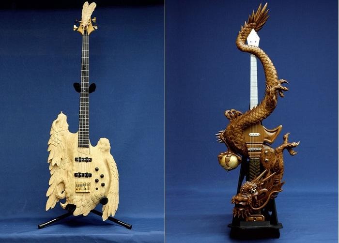Резные гитары ручной работы.