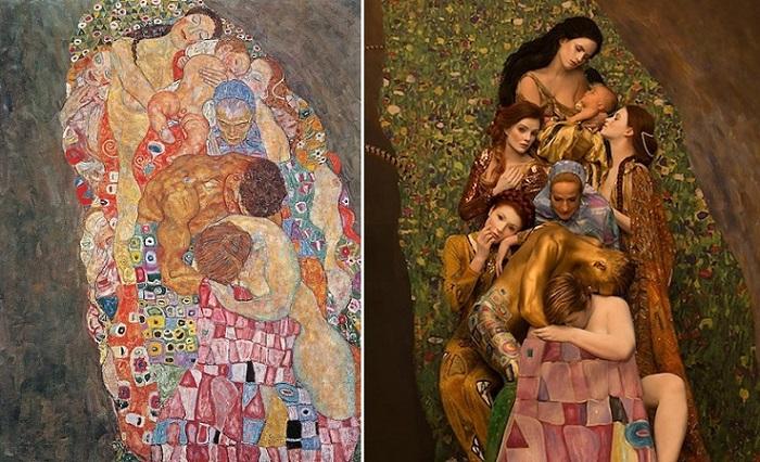 Современная интерпретация «Золотого периода» Густава Климта.