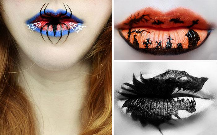 Тематический lip art для Хэллоуина.