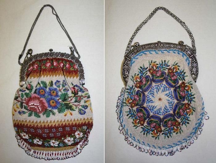 Дамские сумочки 1825-1830 гг. | Фото: fiveminutehistory.com.