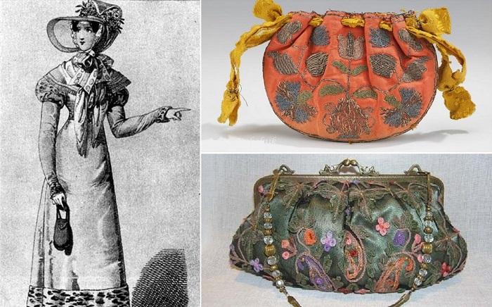 Дамские сумочки появились менее трех веков назад.