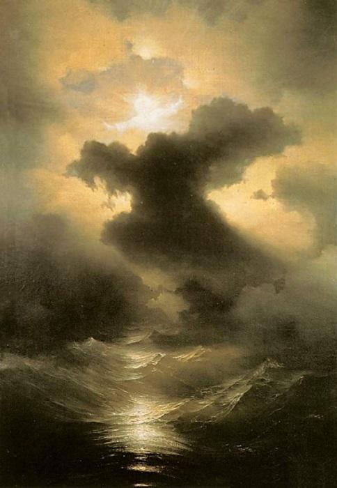 Хаос. Сотворение мира. И. К. Айвазовский, 1841 год. | Фото: lifeguide.com.ua.