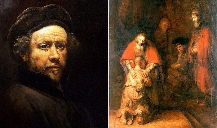 Голландский художник Рембрандт ван Рейн и его полотно «Возвращение блудного сына».