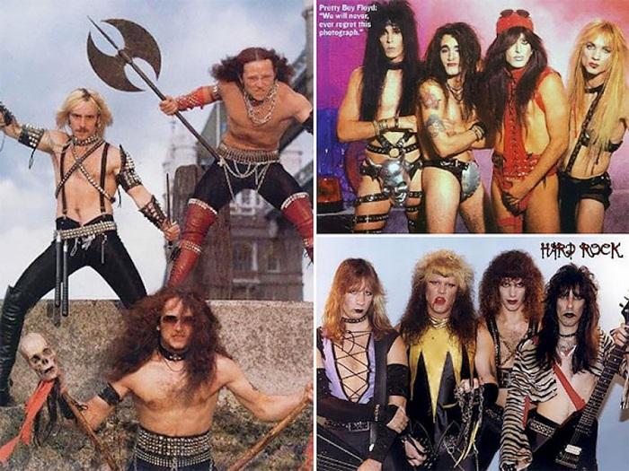Слева: «Venom» - группа так называемого экстремального металла, справа: Pretty Boy Floyd - американская глэм-метал группа. | Фото: ic.pics.livejournal.com.