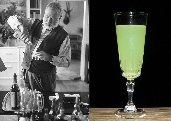 Писатель Эрнест Хемингуэй и его коктейль.