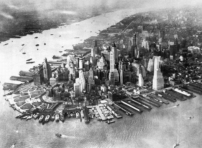 Нью-Йорк. Нижний Манхэттен. Первая половина ХХ века. | Фото: april-knows.ru.