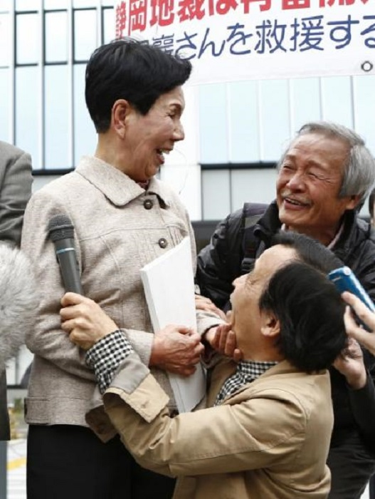 Хидеко Хакамада -<br> сестра несправедливо осужденного, которая боролась за его освобождение 46 лет.   Фото: dagospia.com.