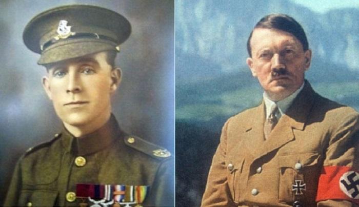 Британский сержант Генри Тенди и немецкий фюрер Адольф Гитлер. | Фото: adm.searchstart.ru.