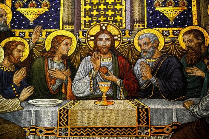 Мозаика с изображением Тайной вечери. | Фото: cdn.theatlantic.com.