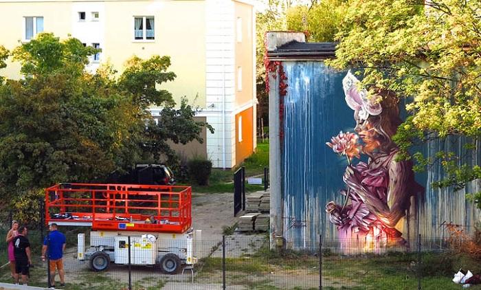 Уличное искусство французского художника Alex Hopare.
