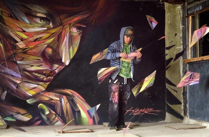 Стрит-арт от уличного художника Hopare.