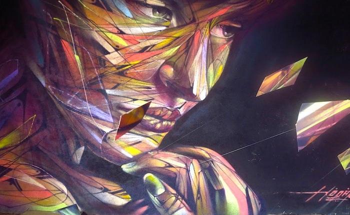 «Музыка для глаз». Инсталляция уличного художника.