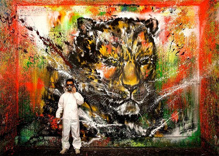 Удивительный стрит-арт от китайского художника.