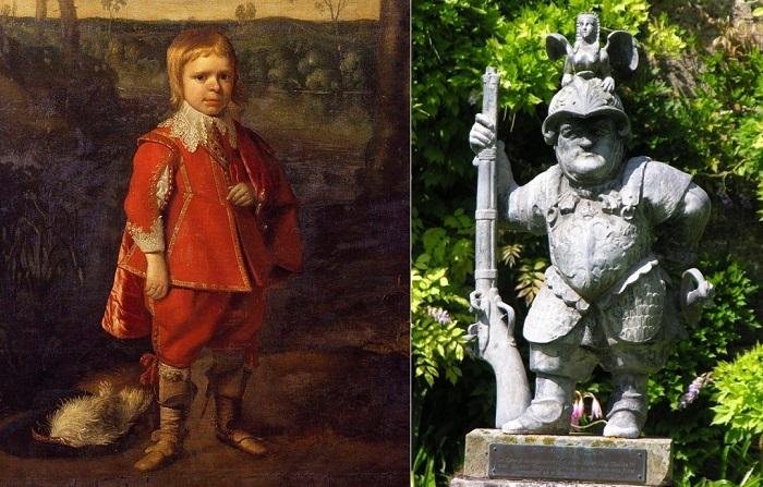 Джеффри Хадсон - придворный карлик английской королевы Генриетты Марии.