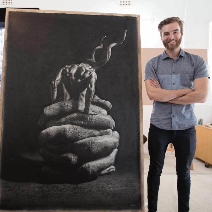 Картина, нарисованная простым карандашом. | Фото: mymodernmet.com.