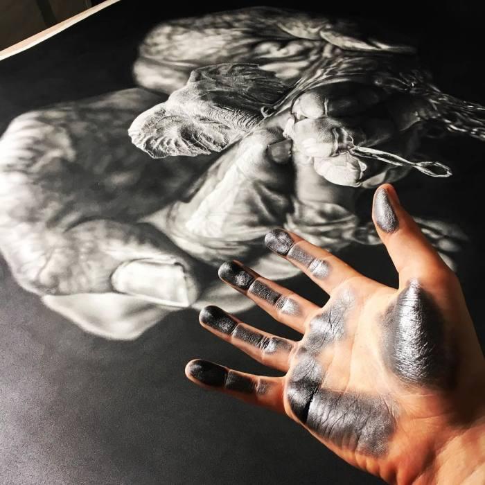 Потрясающий карандашный рисунок. | Фото: mymodernmet.com.