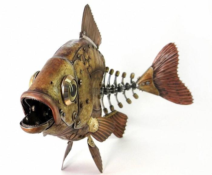 Рыба в стиле «стимпанк».