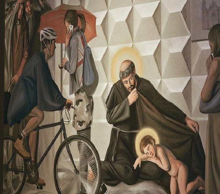Фреска со Святым Антонием. | Фото: ru.espreso.tv.