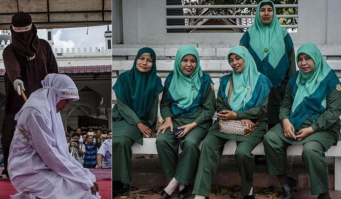 «Полиция нравов» в индонезийской провинции Ачех.