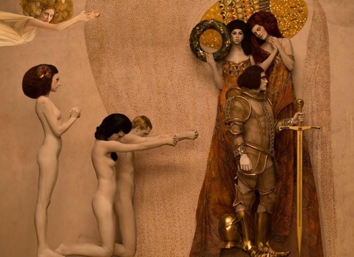 Современная интерпретация работы Густава Климта.   Фото: mymodernmet.