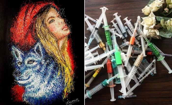 «Inject Art» - рисование не кистью, а шприцами.