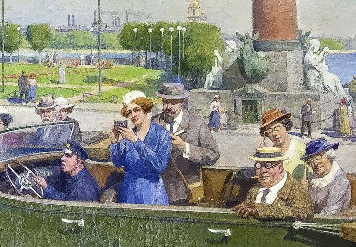 Интуристы в Ленинграде. Фрагмент. | Фото: sergej-manit.livejournal.com.