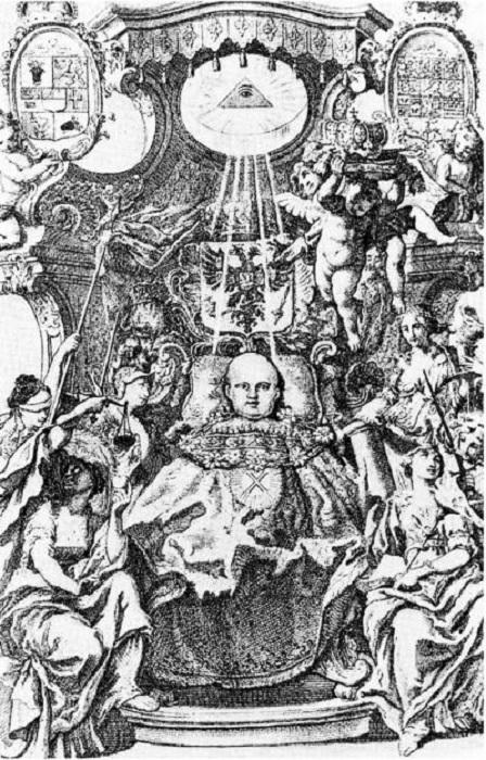Гравюра с изображением малолетнего Иоанна VI Антоновича. | Фото: e-reading.life.