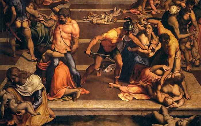 Избиение младенцев. Автор: Daniele Da Volterra, 1557 год. | Фото: barok.cerkov.ru.