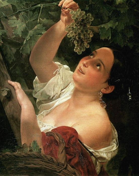 Итальянский полдень. К. Брюллов, 1827 год. | Фото: obzorfoto.ru.