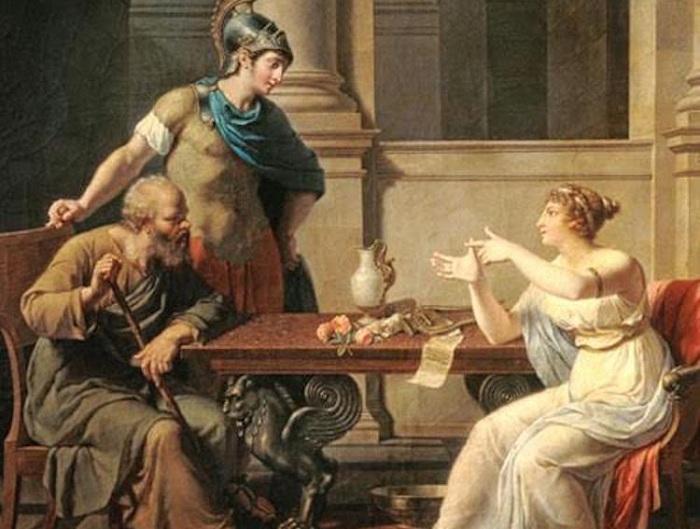 Сократ и Аспазия. | Фото: ulkemiz.com.
