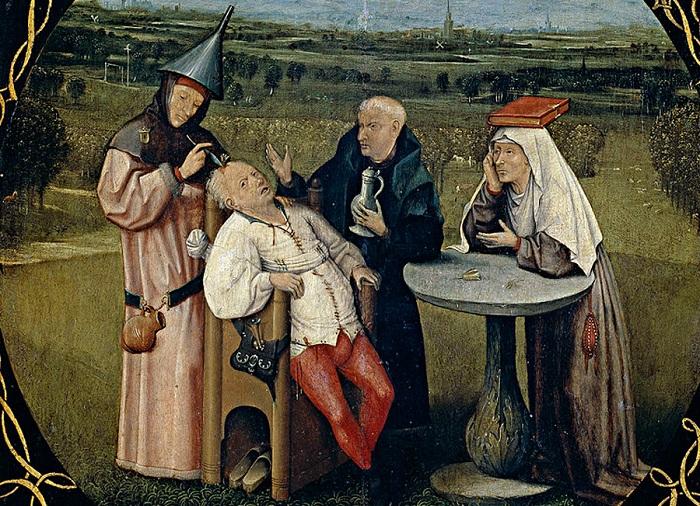 Извлечение камня глупости (1475—1480 гг.). Иероним Босх.