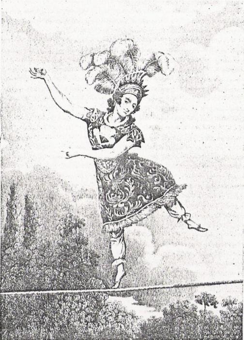 Мадам Саки - виртуозная канатоходка, популярная в XIX веке. | Фото: lichnosti.net.