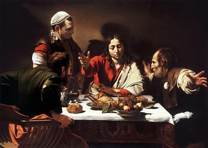 Ужин в Эммаусе. Караваджо, 1601 год. | Фото: ic.pics.livejournal.com.